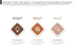 Elevator Pitch Template 1 Powerpoint Presentation Examples