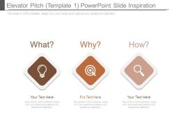 Elevator Pitch Template 1 Powerpoint Slide Inspiration