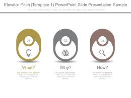 Elevator Pitch Template 1 Powerpoint Slide Presentation Sample