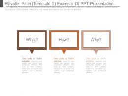 Elevator Pitch Template 2 Example Of Ppt Presentation