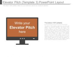 Elevator Pitch Template 3 Powerpoint Layout