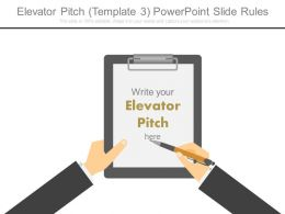 Elevator Pitch Template 3 Powerpoint Slide Rules