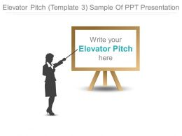 Elevator Pitch Template 3 Sample Of Ppt Presentation