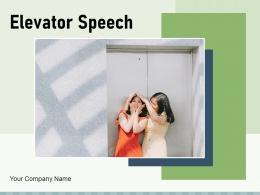 Elevator Speech Business Description Investor Essential Elements Worksheet