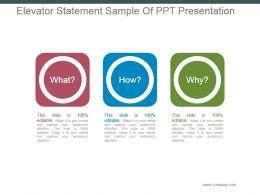 elevator_statement_sample_of_ppt_presentation_Slide01