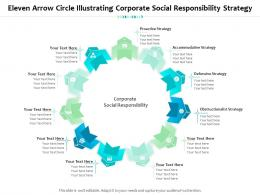Eleven Arrow Circle Illustrating Corporate Social Responsibility Strategy