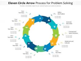 Eleven Circle Arrow Process For Problem Solving