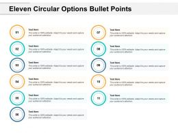 Eleven Circular Options Bullet Points