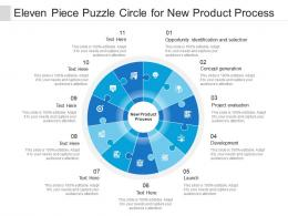 Eleven Piece Puzzle Circle For New Product Process