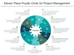Eleven Piece Puzzle Circle For Project Management
