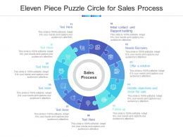 Eleven Piece Puzzle Circle For Sales Process