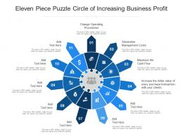 Eleven Piece Puzzle Circle Of Increasing Business Profit