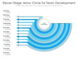 Eleven Stage Arrow Circle For Team Development