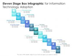 Eleven Stage Box Infographic For Information Technology Adoption