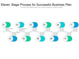 Eleven Stage Process For Successful Business Plan