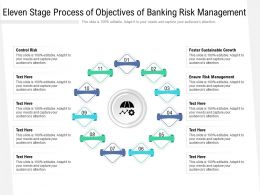 Eleven Stage Process Of Objectives Of Banking Risk Management
