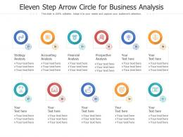 Eleven Step Arrow Circle For Business Analysis