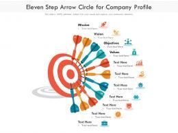 Eleven Step Arrow Circle For Company Profile