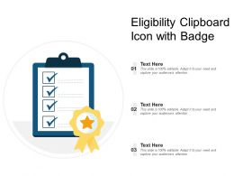 Eligibility Clipboard Icon With Badge