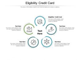 Eligibility Credit Card Ppt Powerpoint Presentation Inspiration Aids Cpb