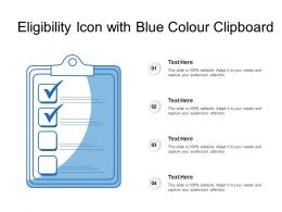 Eligibility Icon With Blue Colour Clipboard