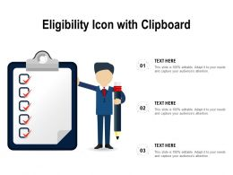 Eligibility Icon With Clipboard