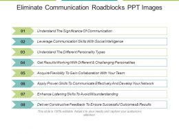 Eliminate Communication Roadblocks Ppt Images