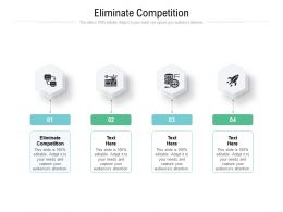 Eliminate Competition Ppt Powerpoint Presentation Model Designs Cpb