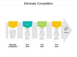 Eliminate Competition Ppt Powerpoint Presentation Pictures Shapes Cpb