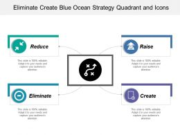 Eliminate Create Blue Ocean Strategy Quadrant And Icons
