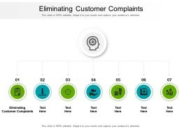 Eliminating Customer Complaints Ppt Powerpoint Presentation Professional Layouts Cpb