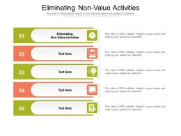 Eliminating Non Value Activities Ppt Powerpoint Presentation Icon Slideshow Cpb