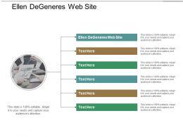 Ellen DeGeneres Web Site Ppt Powerpoint Presentation Pictures Outfit Cpb