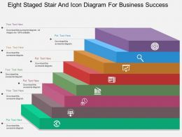 em Eight Staged Stair And Icon Diagram For Business Success Flat Powerpoint Design