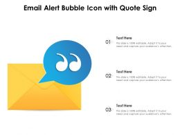 Email Alert Bubble Icon With Quote Sign