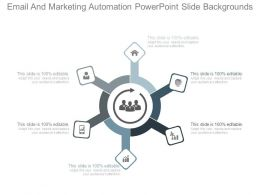 Email And Marketing Automation Powerpoint Slide Backgrounds