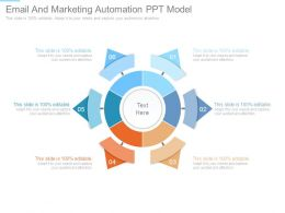 Email And Marketing Automation Ppt Model