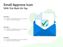 Email Approve Icon With Tick Mark On Top