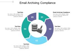 Email Archiving Compliance Ppt Powerpoint Presentation Inspiration Guide Cpb