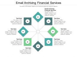 Email Archiving Financial Services Ppt Powerpoint Presentation Portfolio Designs Download Cpb