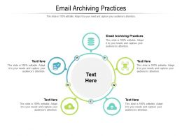 Email Archiving Practices Ppt Powerpoint Presentation Ideas Graphics Cpb