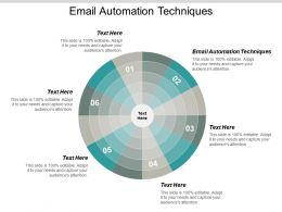 Email Automation Techniques Ppt Powerpoint Presentation Gallery Portfolio Cpb