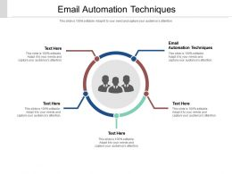 Email Automation Techniques Ppt Powerpoint Presentation Professional Images Cpb