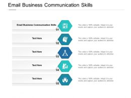 Email Business Communication Skills Ppt Powerpoint Presentation Icon Guide Cpb