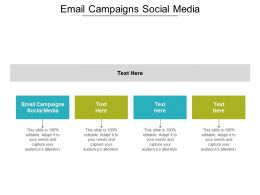 Email Campaigns Social Media Ppt Powerpoint Presentation Gallery Pictures Cpb