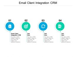 Email Client Integration CRM Ppt Powerpoint Presentation Outline Format Ideas Cpb