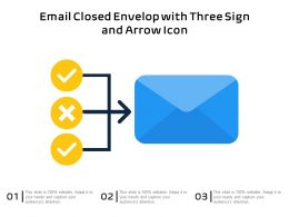Email Closed Envelop With Three Sign And Arrow Icon