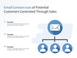 Email Contact Icon Of Potential Customers Generated Through Sales