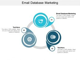 Email Database Marketing Ppt Powerpoint Presentation Gallery Slide Download Cpb