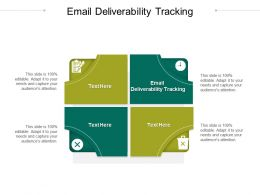 Email Deliverability Tracking Ppt Powerpoint Presentation Slides Graphic Tips Cpb